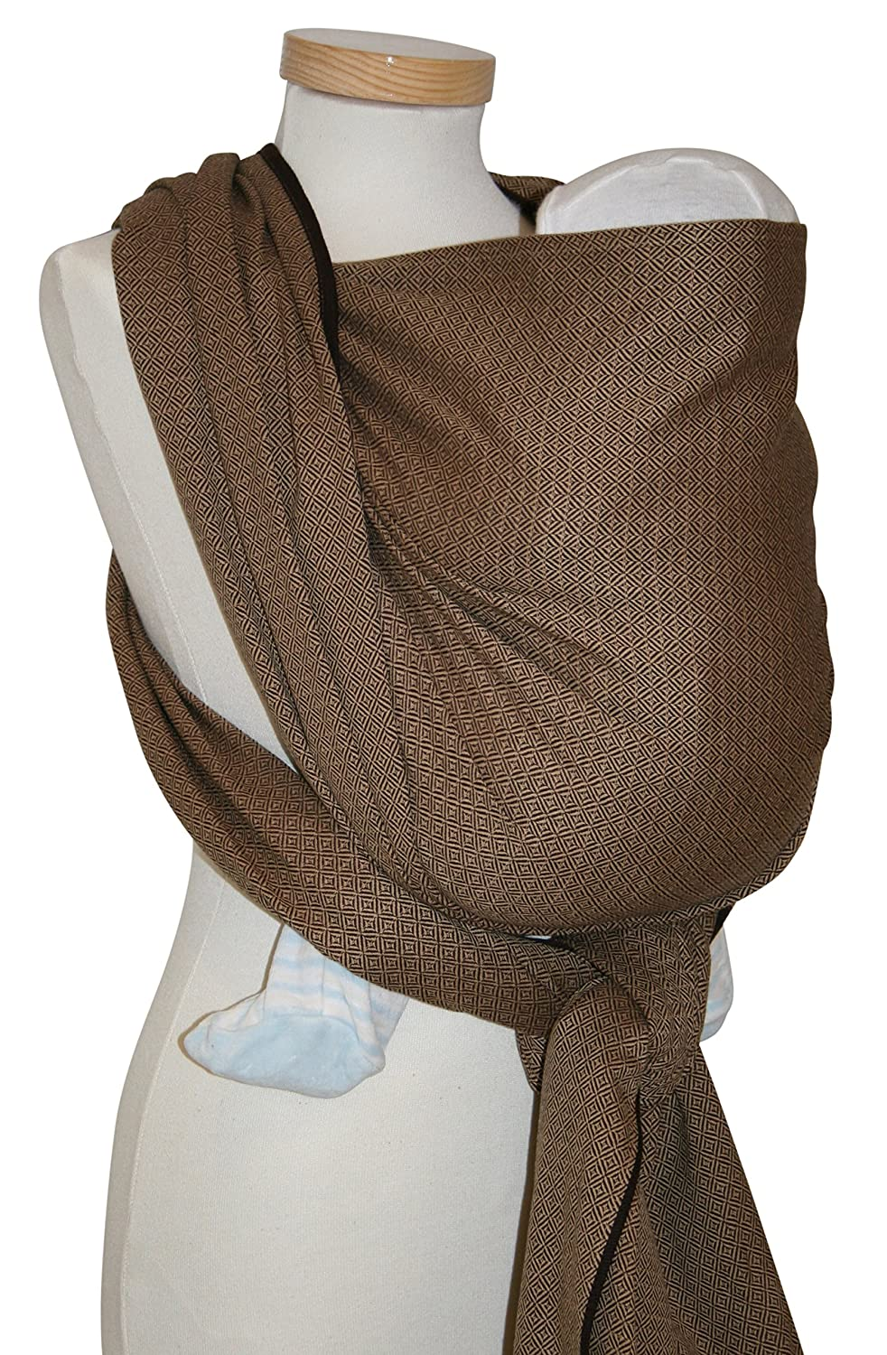 Storchenwiege Woven Cotton Baby Carrier Wrap (2.7, Leo Cafe)