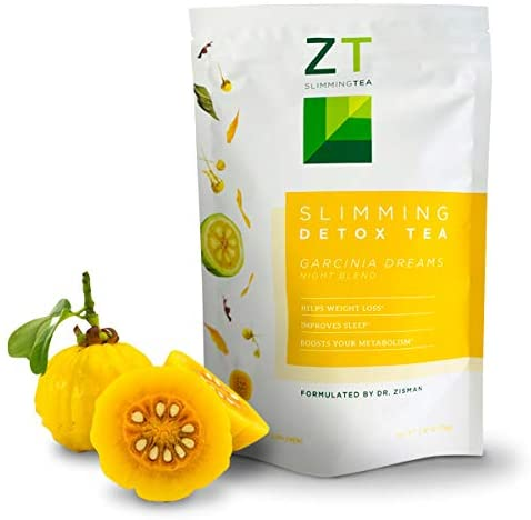 Dr. Zisman ZT Slimming Garcinia Dreams Night Blend Tea | Deeper Sleeping Time and Healthy Rest | Enhance Digestion Process and Weight Loss | Reduce Stress and Muscle Tension