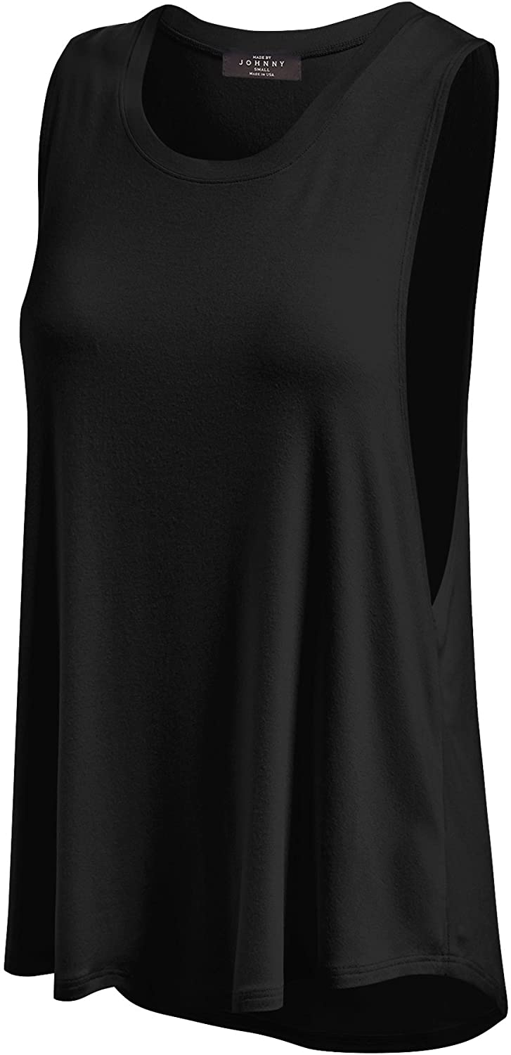 LL Womens Basic Loose Fit Tank Top - Made in USA