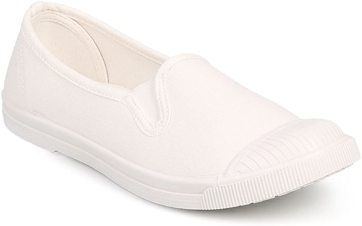 Women Canvas Cap Toe Classic Slip On Fashion Sneaker DF45 - White