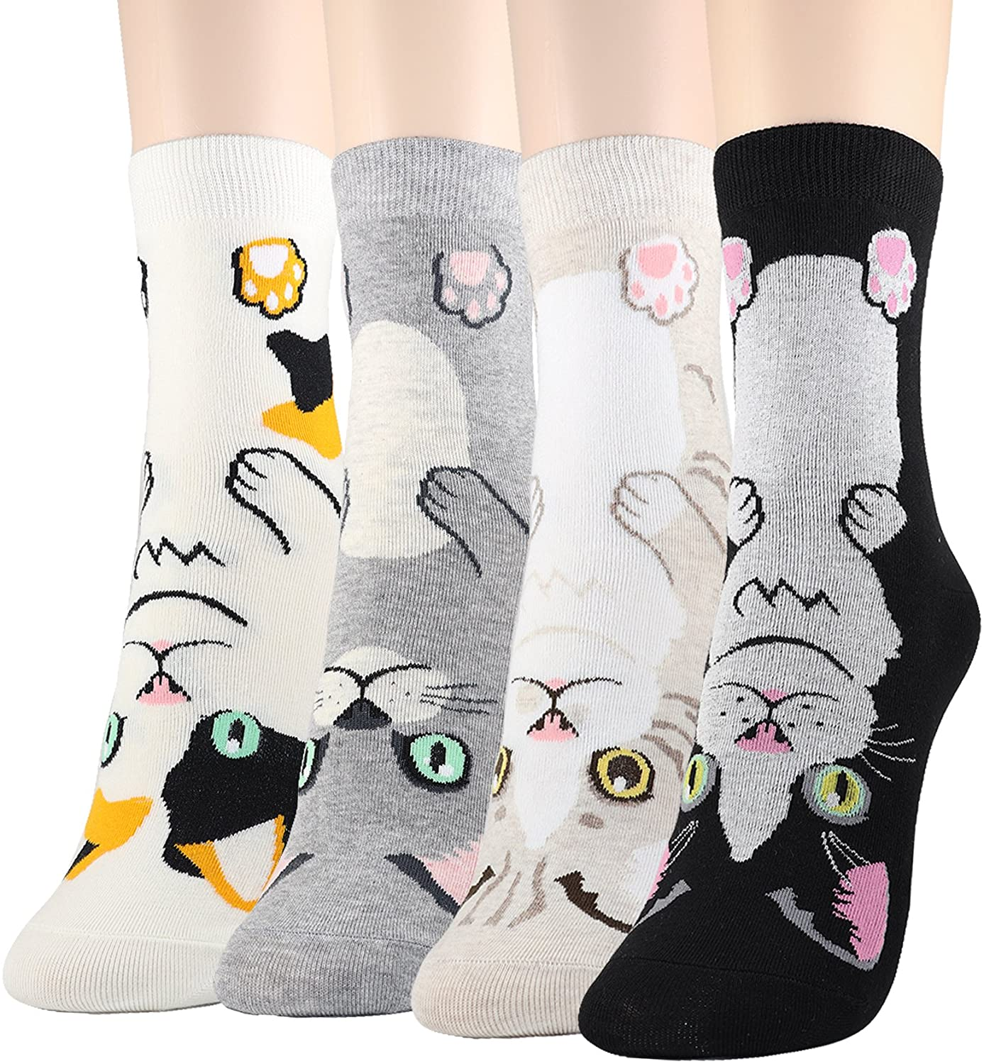 DearMy Womens Cute Design Casual Cotton Crew Socks   One Size Fits All   Gifts for Women