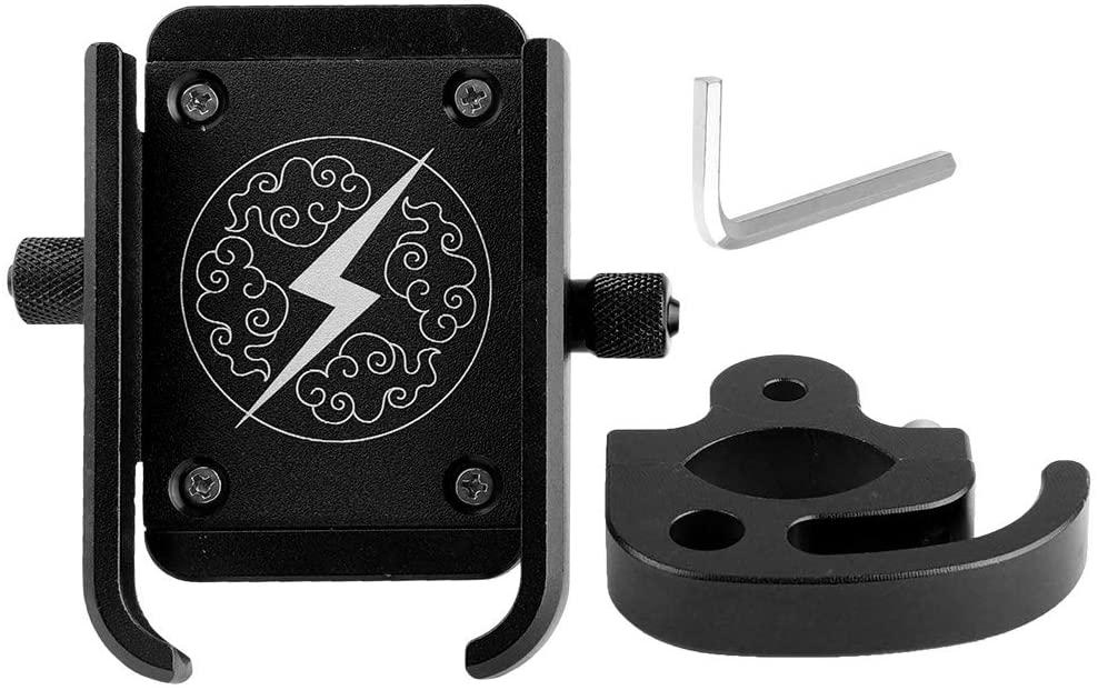 SOONHUA Universal Metal Bicycle Handlebar Phone Holder Mount Bracket with Rotating GPS Navigation Aluminum Alloy Mobile Phone Bracket Stand