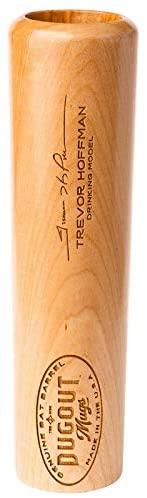 Dugout Mugs - Trevor Hoffman Laser Engraved Signature, Variety of Hall of Fame Players, Baseball Bat Beer Mug
