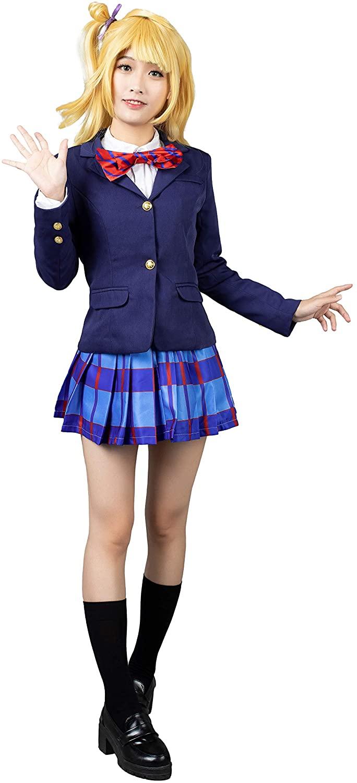 Cosfun Love Live!Kousaka Honoka Japanese Uniform Cosplay Costume mp003009