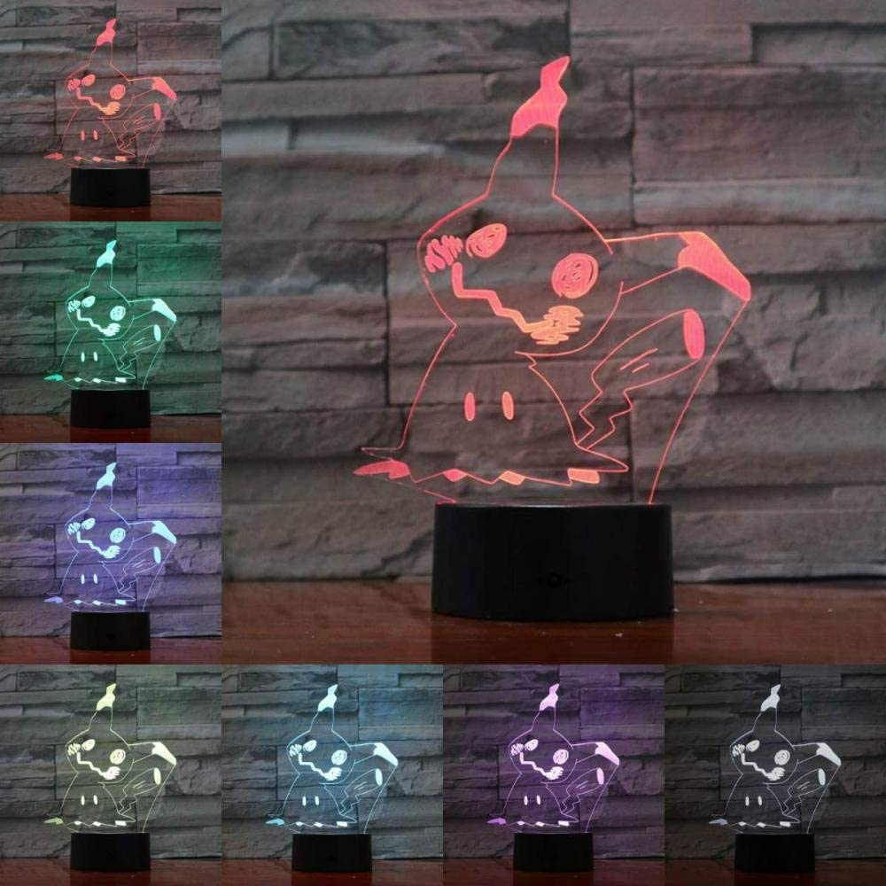 xcdfr 3D Night Light Optical Illusion LED Desk Table Lamp for Kids USB Cartoon Lamp Moon Game Figures LED Bulb Multicolor Children s Gift Kid Toy Holiday Gadgets