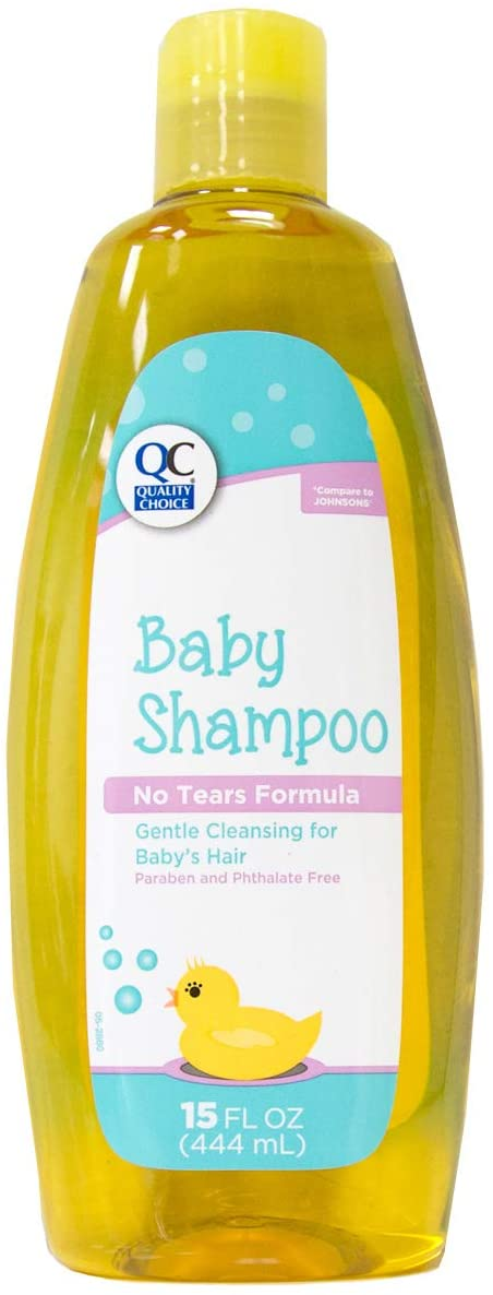 Quality Choice Baby Wash & Shampoo No Tears Formula 15 Ounces Each (2)