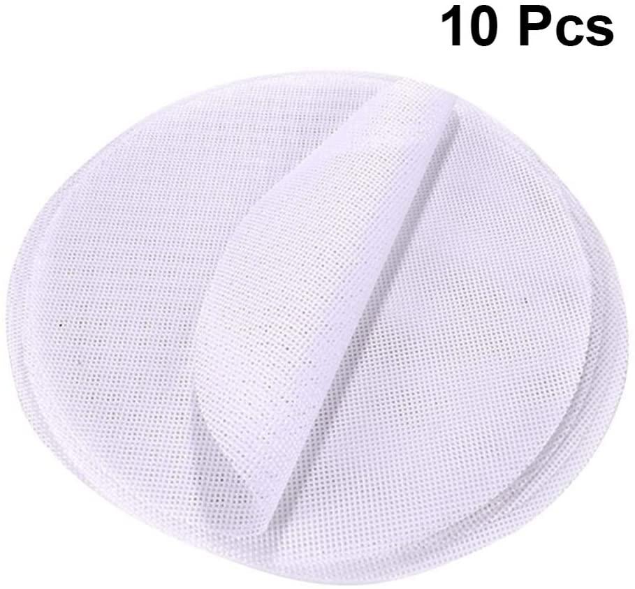 Hemoton 10pcs Non stick Silicone Steamer Liners Mesh Mat Pad Round Dumplings Mat Baking Pastry Dim Sum Mesh 20cm