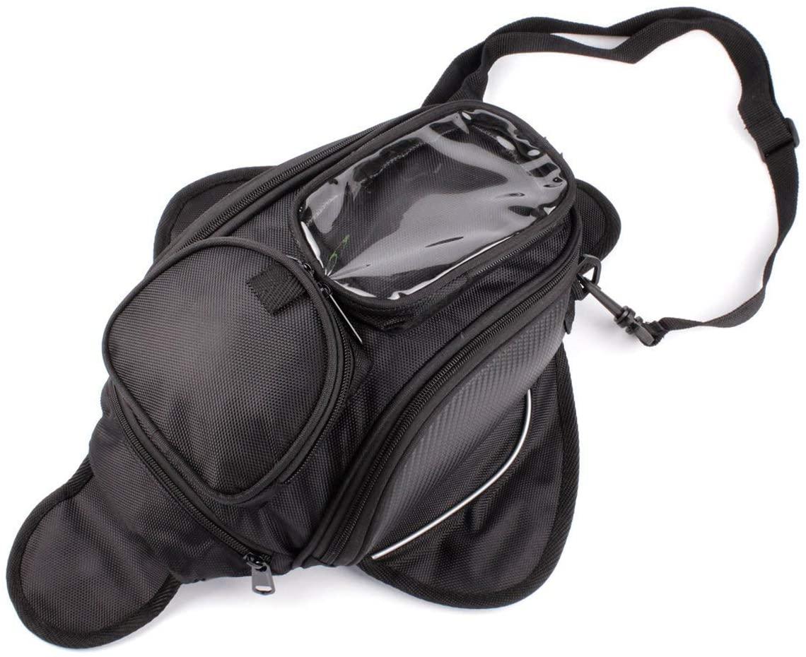 Motorcycle Gas Oil Fuel Tank Bag Waterproof Backpack & Magnetic Motorcycle Tank Bag for Honda Yamaha Suzuki Kawasaki