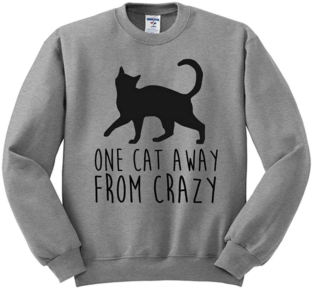 One Cat Away from Crazy Sweatshirt Unisex