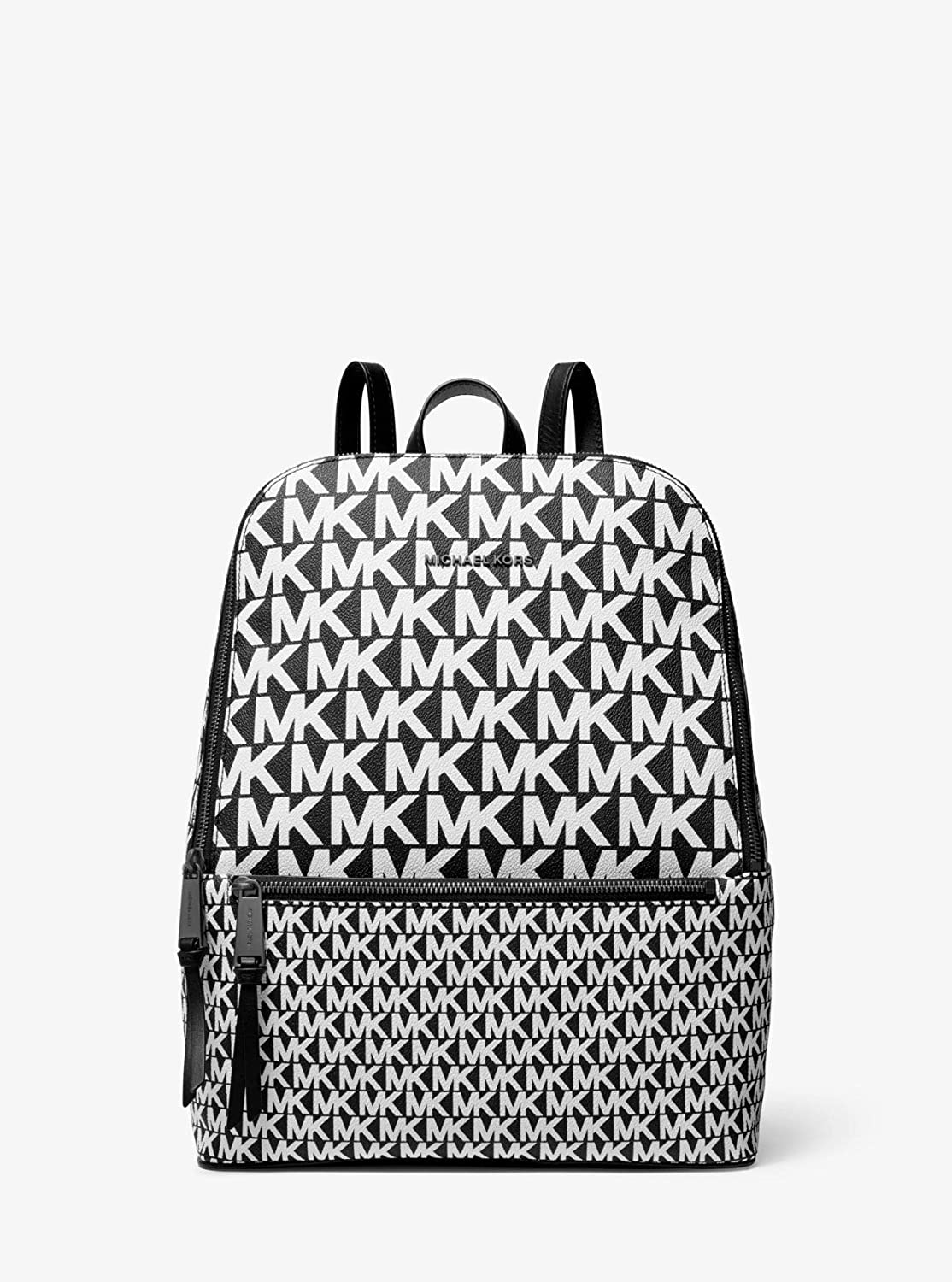 Michael Kors Toby Ladies Medium Black/White Leather Casual Backpack 30T9UOYB2B-002