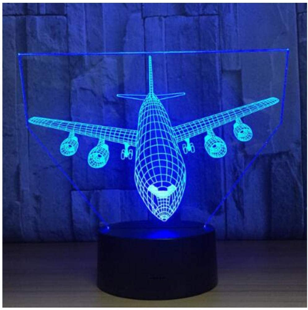 Plane Fly Earth 3D Lamp 7 Color Change Touch Switch Night Light Luminaria Atmosphere Lamp Bedroom Light Novelty Gift Lava Lamp