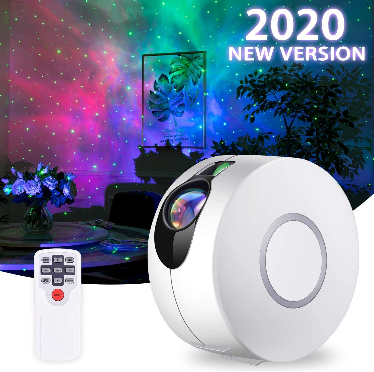 Star Projector, Galaxy Projector with Led Nebula Cloud,Star Light Projector with Remote Control for Kids Adults Bedroom/Party and Home Theatre