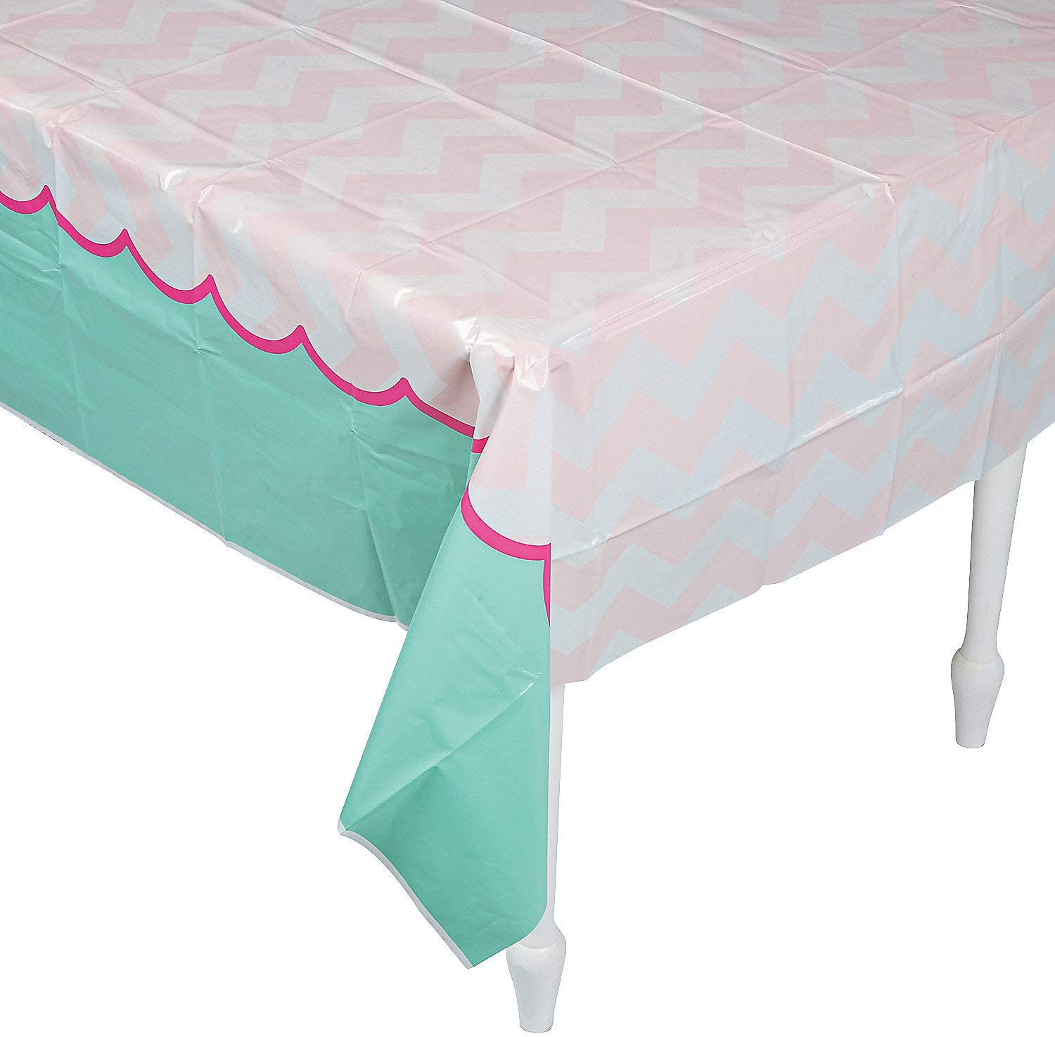 1ST PINK ELEPHANT TABLECOVER - Party Supplies - 1 Piece