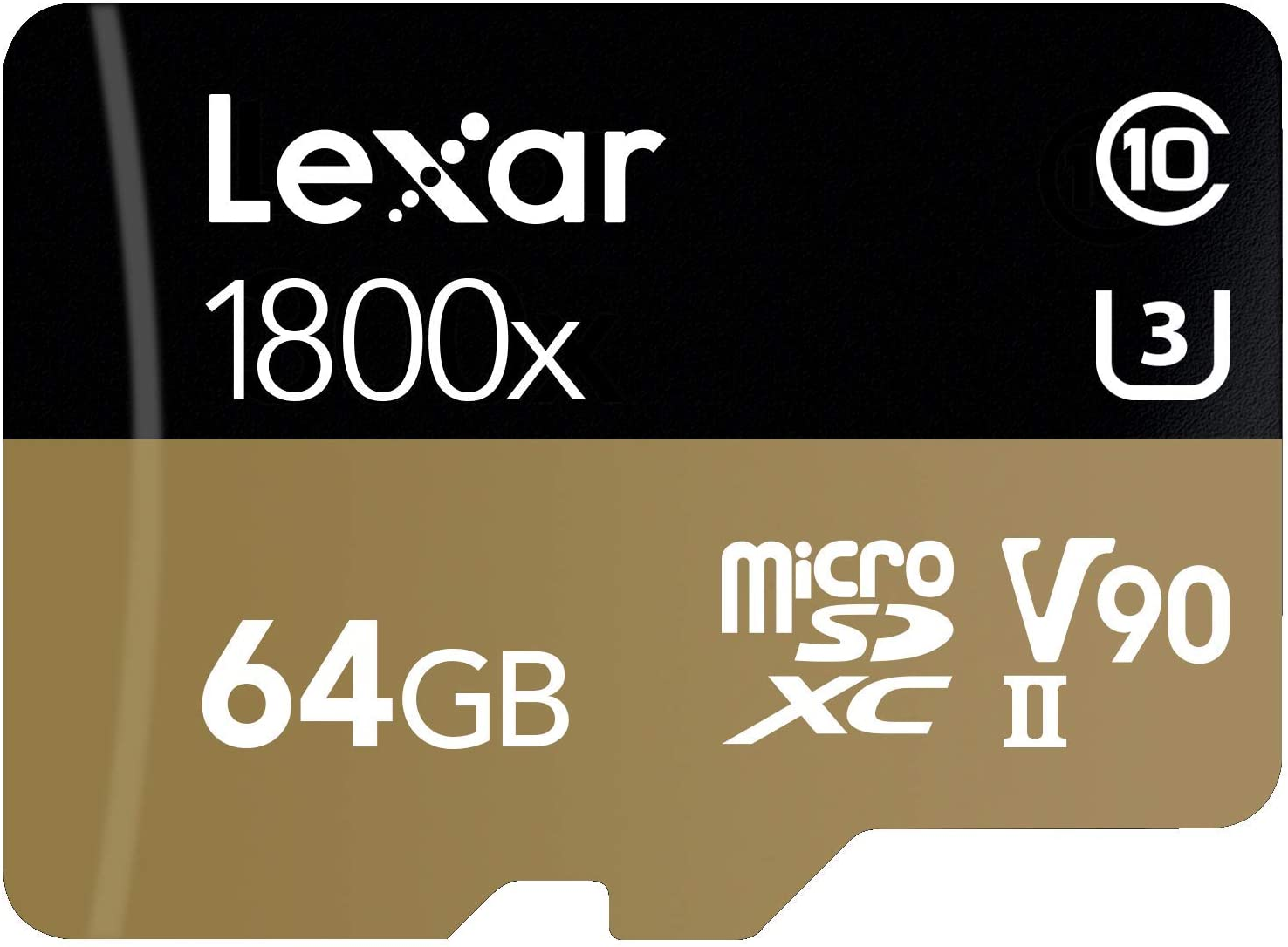 Lexar Professional 1800x 64GB microSDXC UHS-II Card (LSDMI64GCBNA1800A)