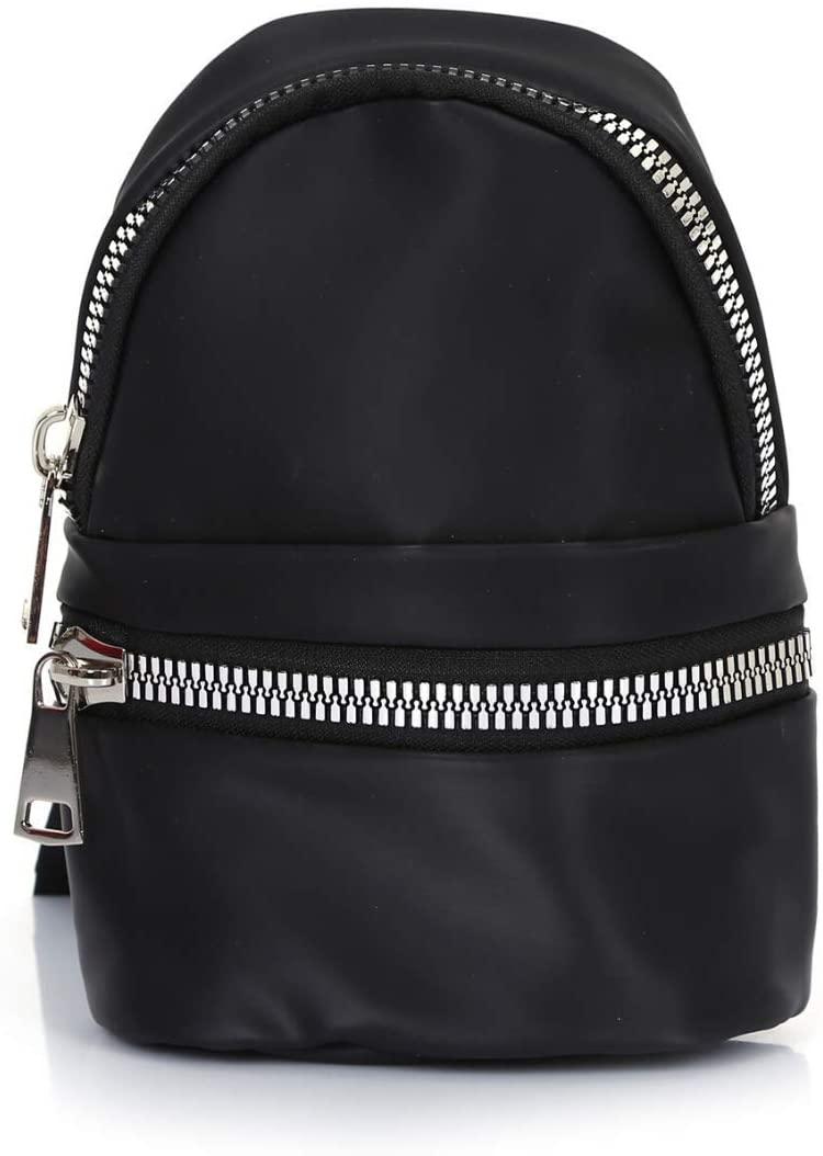 S Design Mini Backpack for Women, Crossbody Purses, Sling Bag, Travel Backpack for Women, Small Sling Backpack for Girls, Crossbody Bags for Womens, Black Mini Backpack