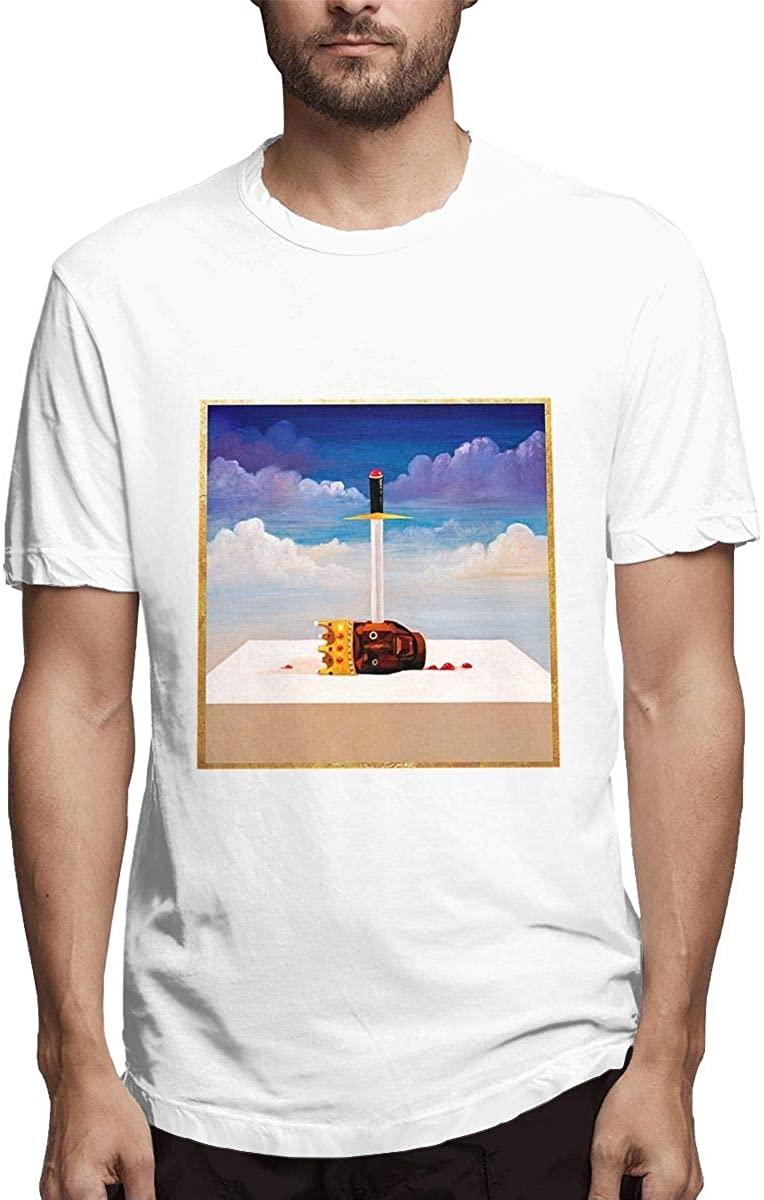 Maxdot Men Cotton T-Shirt with Kanye West My Beautiful Dark Twisted Fantasy Design