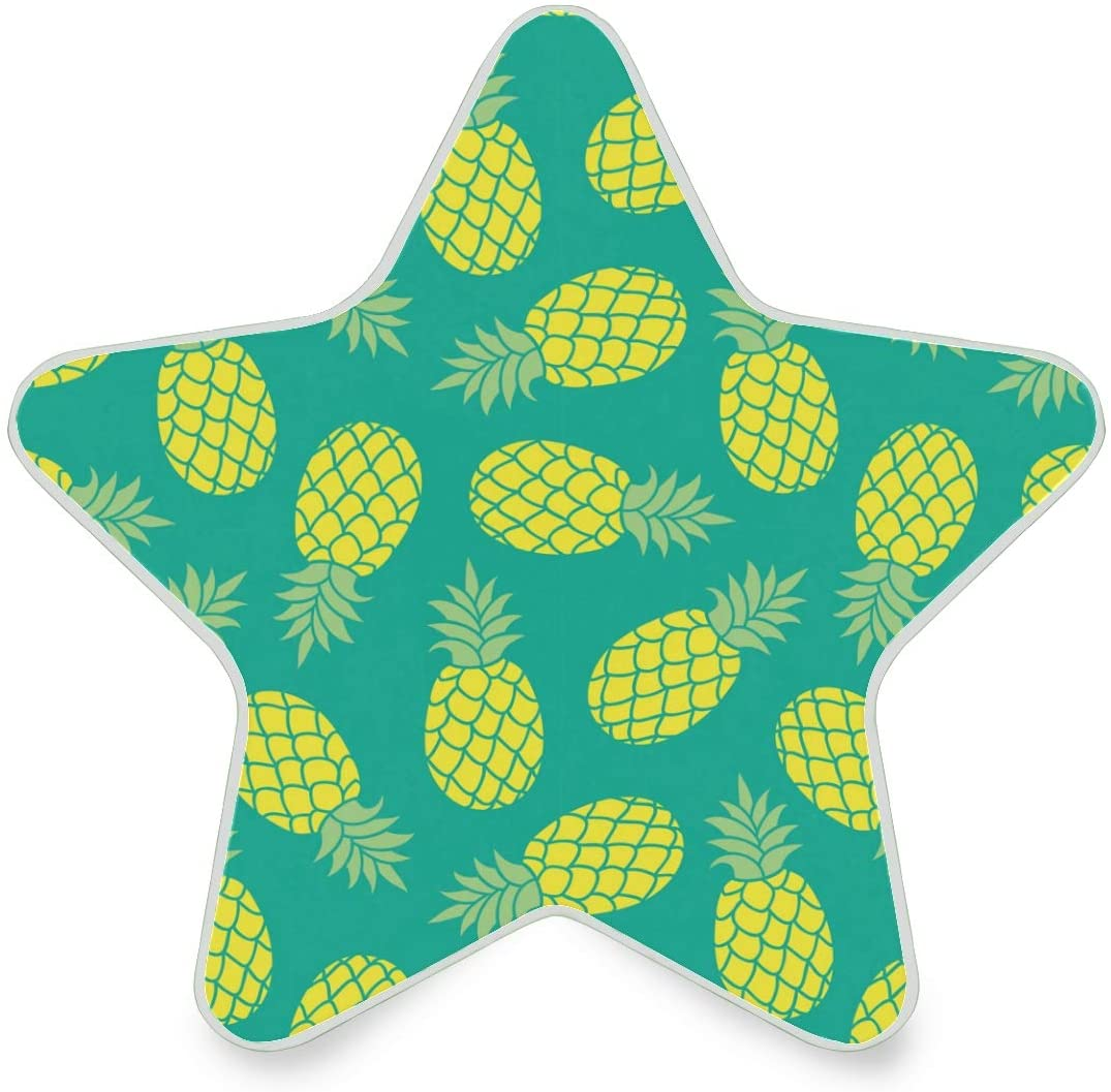LED Night Light Star ShapeUltra-Slim, and Cool-Touch Dusk to Dawn Sensor Night Lamp Yellow Pineapple Kids Adults and Nursery Decor Night Light