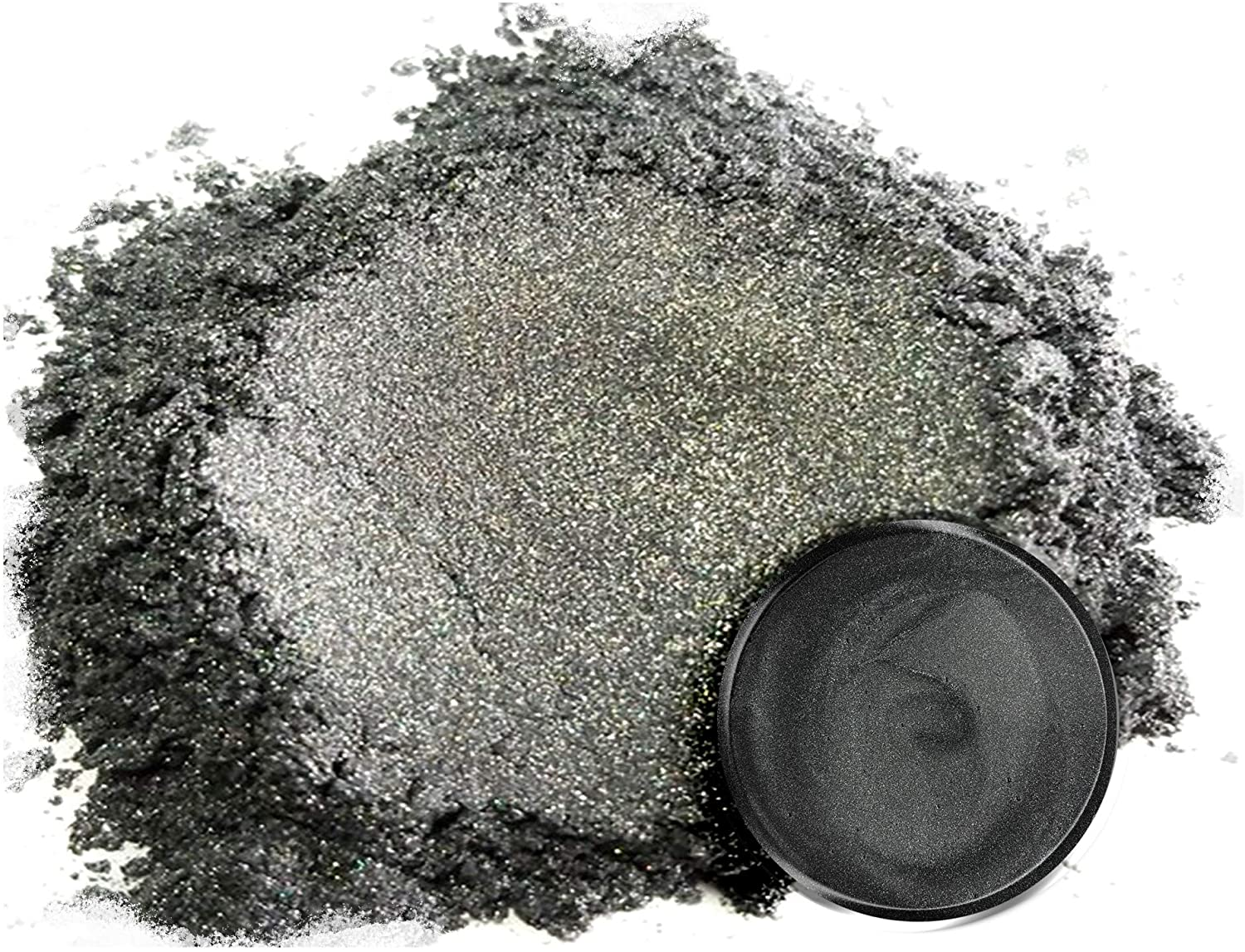 """Mica Powder Pigment """"Japanese Steel Grey"""" (50g) Multipurpose DIY Arts and Crafts Additive   Woodworking, Epoxy, Resin, Natural Bath Bombs, Paint, Soap, Nail Polish, Lip Balm (Japanese Steel Grey, 50G)"""