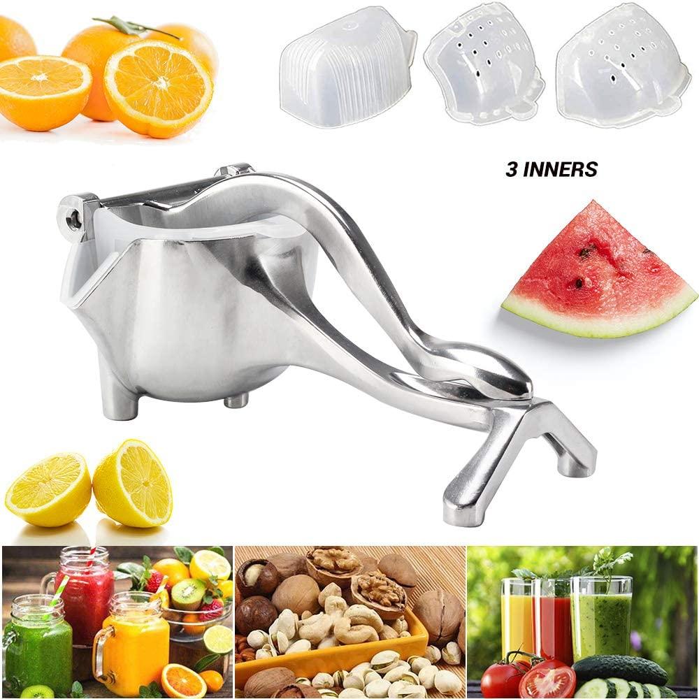 Manual Fruit Juicer, Heavy Duty Juice Press Lemon Squeezer, Alloy Hand Press Lemon Orange Juicer Citrus Lime Squeezer by FOSKU