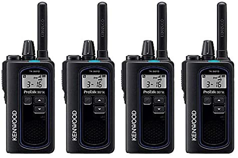 Kenwood NX-P500 ProTalk Digital Two-Way Radio (Pack of 4), Loud Audio, Rugged and Submersible, Analog and Digital Mode, 6 Channel Operation, Individual and Group Calls, 99 User-Programmable Frequencie
