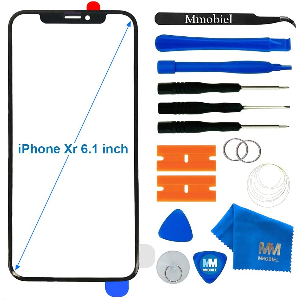 MMOBIEL Front Glass Compatible with iPhone XR 6.1 inch (Space Grey) Display Touchscreen incl. Tool Kit