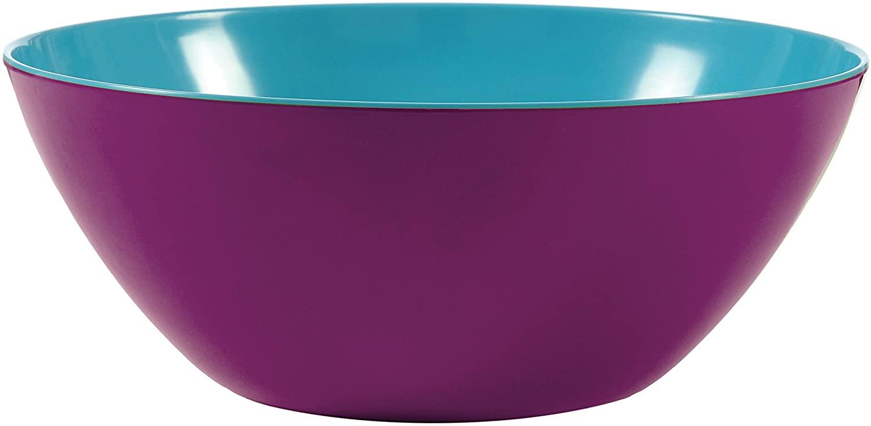 French Bull 12 Serving Bowl - Melamine Dinnerware - Salad, Mixing, Pasta - Grape/Turquoise