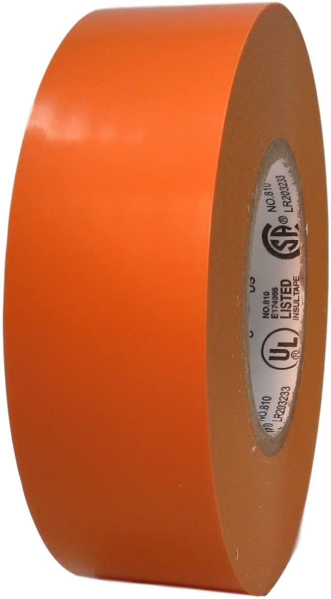 T.R.U. EL-766AW Color General Purpose Electrical Tape 66' (L) UL/CSA listed core. Utility Vinyl Synthetic Rubber Electrical Tape (1.5 in. x 66 ft. (36mm wide), Orange)