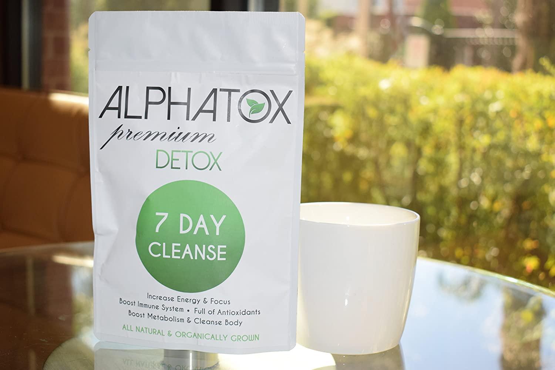 Alphatox 7 Day Premium Detox Tea Cycle, Helps Lose Weight Naturally, Full of Antioxidants, 7 Herbal Tea Bags, Organic Tea