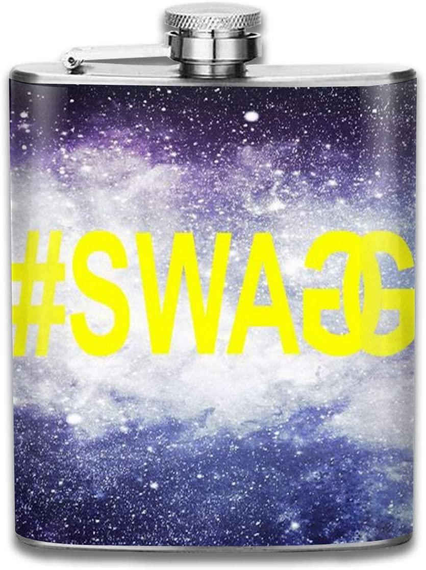 2 Pcs Hip Flask for Liquor U-Shaped #Swag Logo Flagon 304 Stainless Steel Leak-Proof Alcohol Whiskey Liquor Wine 7OZ Pot Hip