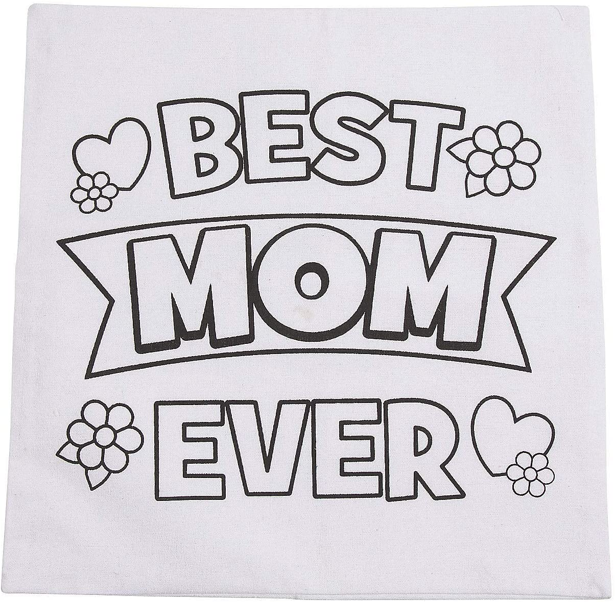 Color Your Own Mothers Day Pillow Case - Crafts for Kids and Fun Home Activities