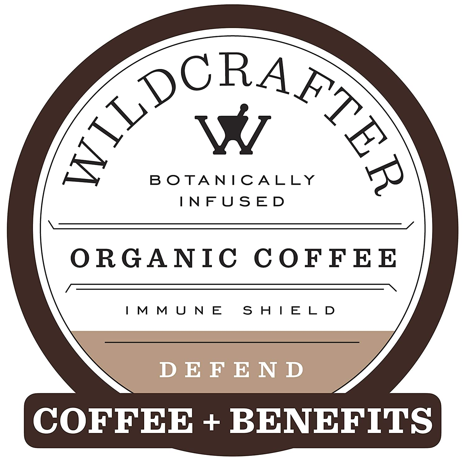 Wildcrafter Botanicals Organic Coffee K Cups - Herbal Immune Booster Infused with Elderberry, Astragalus Root & Reishi Mushroom Blend. 12 Dark Roast Pods - Compatible with K-Cup Brewers & Keurig 2.0