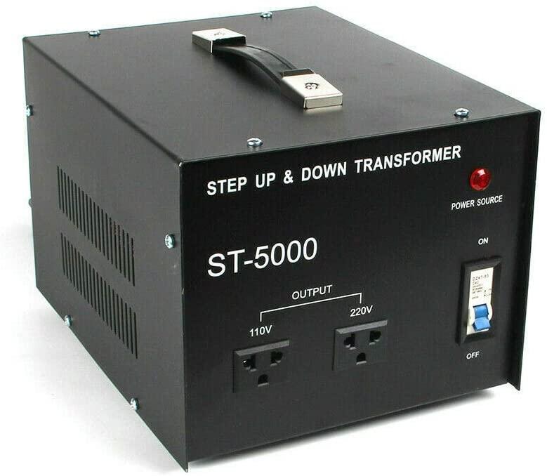 5000w Voltage Converter Transformer Step Up Down AC 110V to 220V Power Regulator Transformer Two Way Transformer Heavy Duty Power Converter Safety