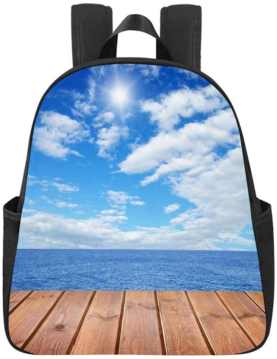 InterestPrint Scenic Sunset over the Forest Backpack Lightweight School Shoulder Bag
