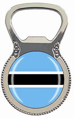 Botswana Flag Beer Bottle Opener Fridge Refrigerator Magnet Metal Glass Crystal Travel Souvenir Gift Home Decoration