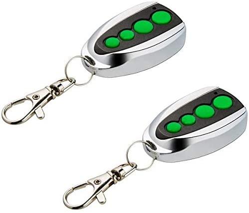 TOPENS M12 Remote Control Transmitter Key Chain Keyfob 2 pcs Pack