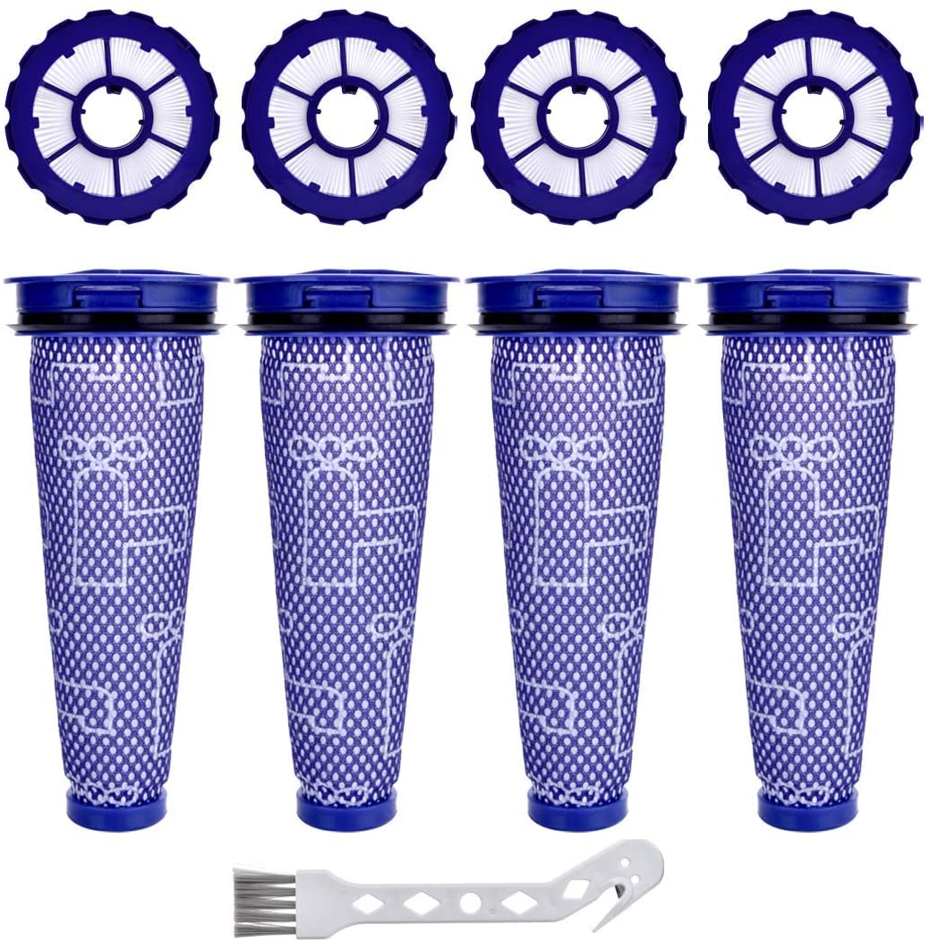 Anicell DC50 Filter for Dyson 4 Pack Vacuum Filter Replacement for Dyson with Hepa Post-Motor Filter & Pre-Motor Filter, Animal Complete Exclusive Total Clean Vacuum Cleaners.Compatible Part#965081-01 & 965080-02