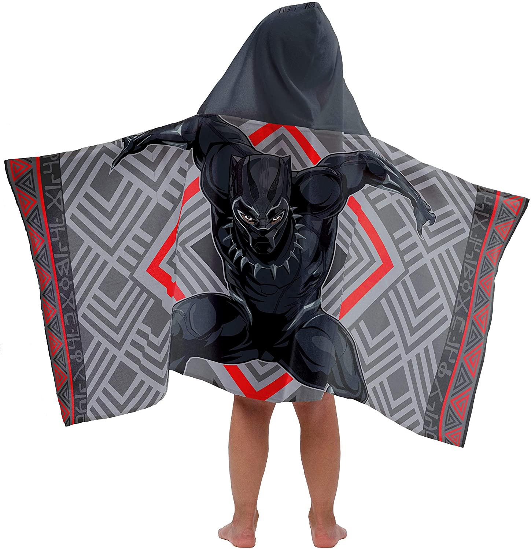 Jay Franco Kids Hooded Towel Avengers - Black Panther