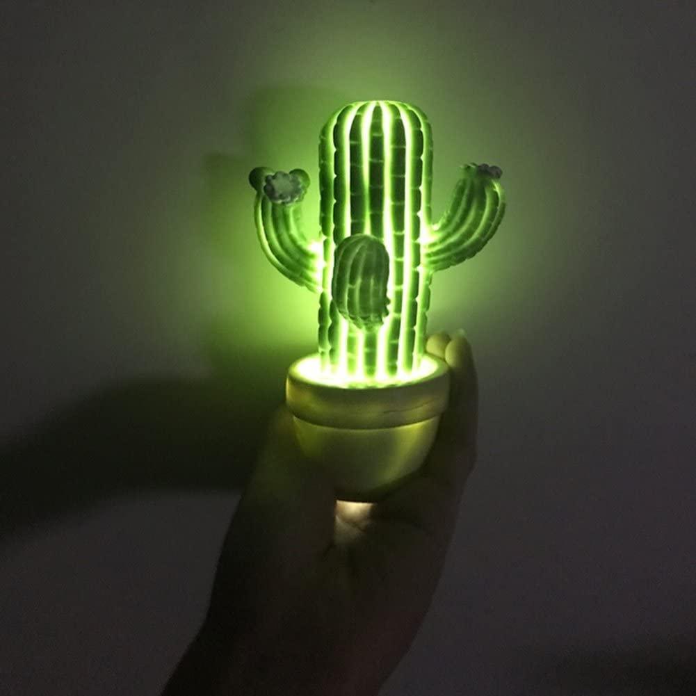 Heaven2017 LED Cactus Night Light Desk Lamp Bedroom Home Decor Gift - Green