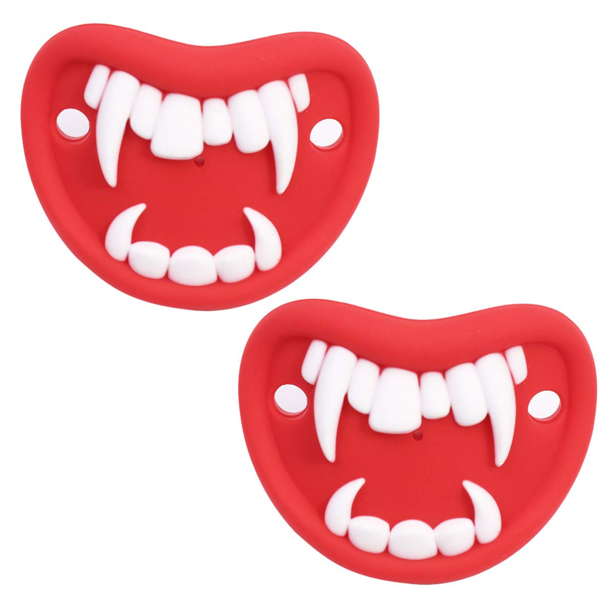 KESYOO 2pcs Baby Pacifier Vampire Shape Funny Halloween Pacifier Halloween Party Favors Gifts