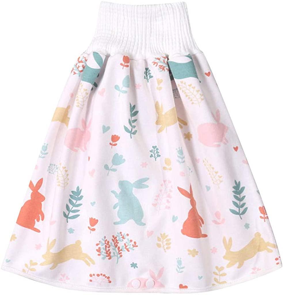 Boy's Girl's Training Skirt,Comfy Reusable Baby Diaper Skirt Shorts,Ultra Premium Quality