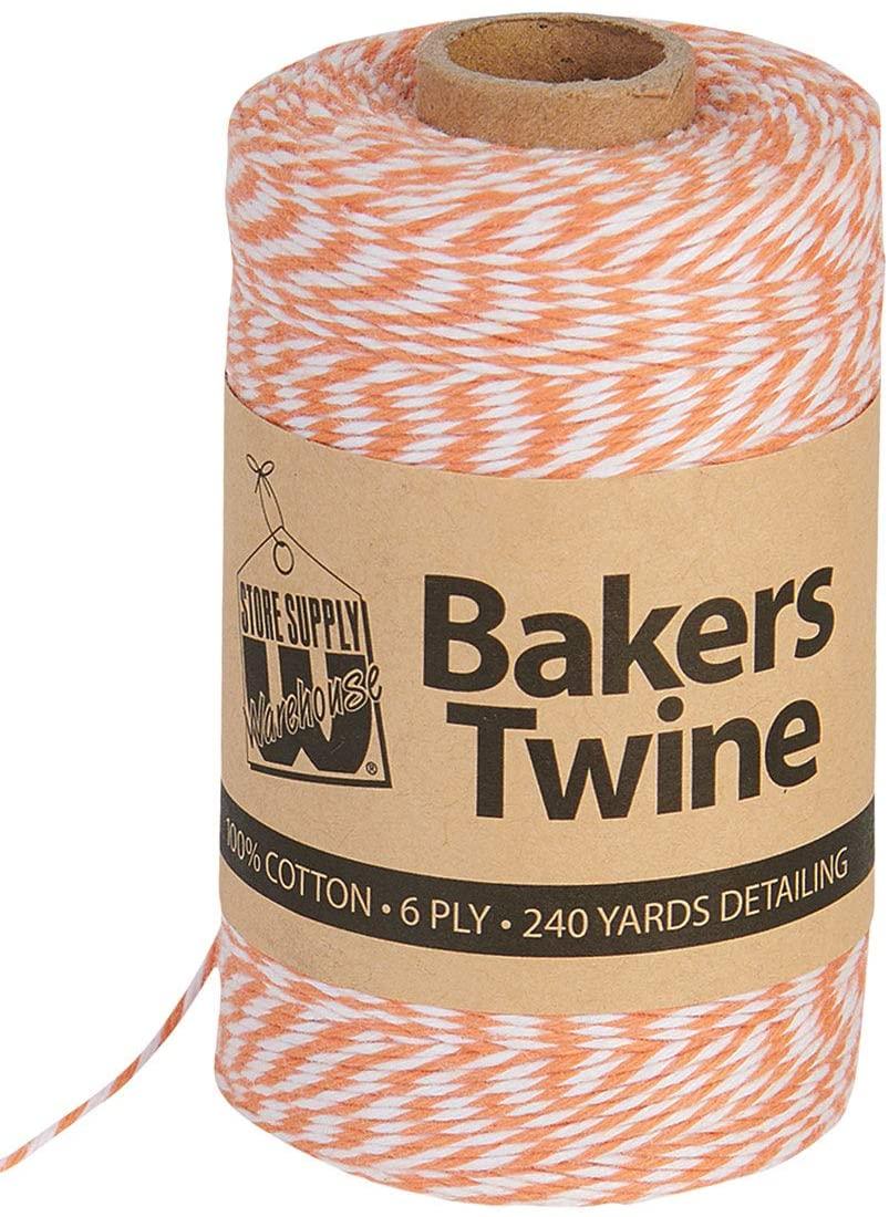 Bakers Twine - Orange and White - 240 Yards