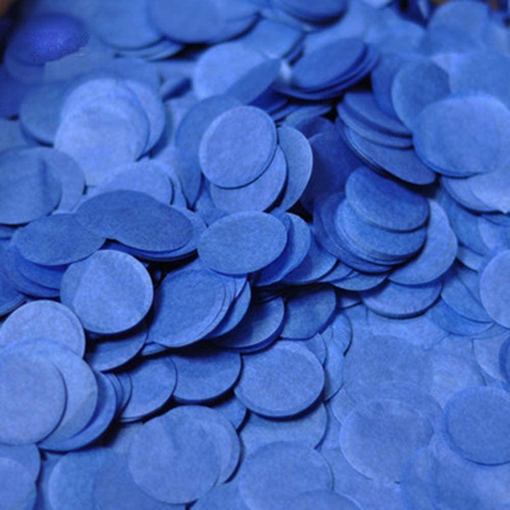 1 inch Tissue Paper Confetti 5000 pcs Circle Confetti Wedding & Birthday Party Decoration Royal Blue