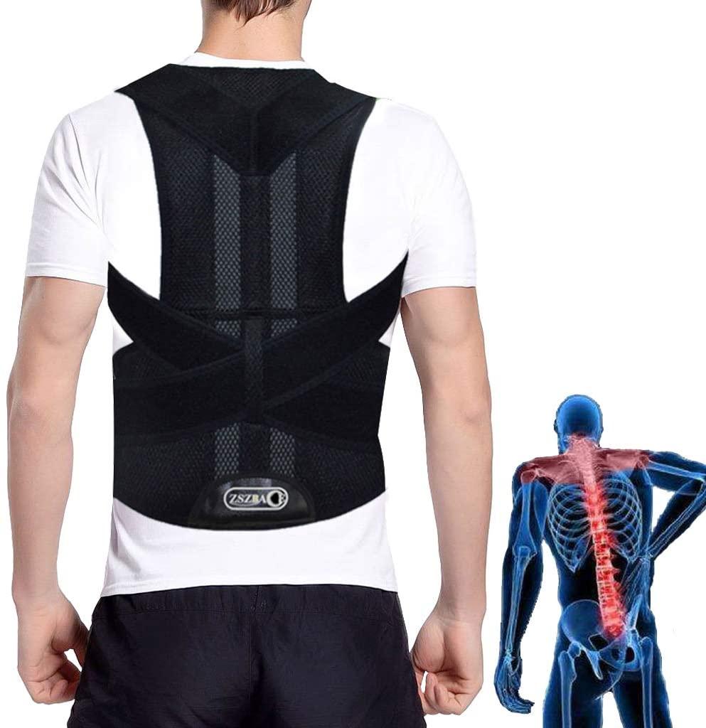 Back Brace for Men and Women, Posture Corrector with Adjustable Straps, Back Support Belt Waist Protector