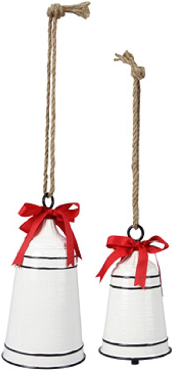 youngs Metal Christmas Bell 2-Piece Set