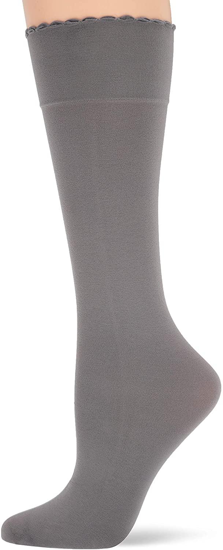HUE Women's Graduated Compression Opaque Knee Hi Sock