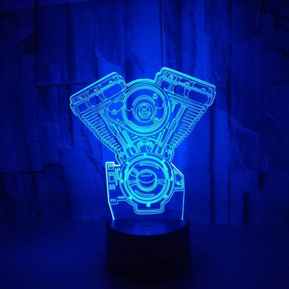 3D Camera Night Light Illusion Lamp 7 Color Change LED Touch USB Table Gift Kids Toys Decor Decorations Christmas Valentines Gift
