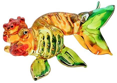 Mr_air_thai_Glass_Blown Miniature Fish Glass Blown Animals Fish Figurine Collection Hand Blown