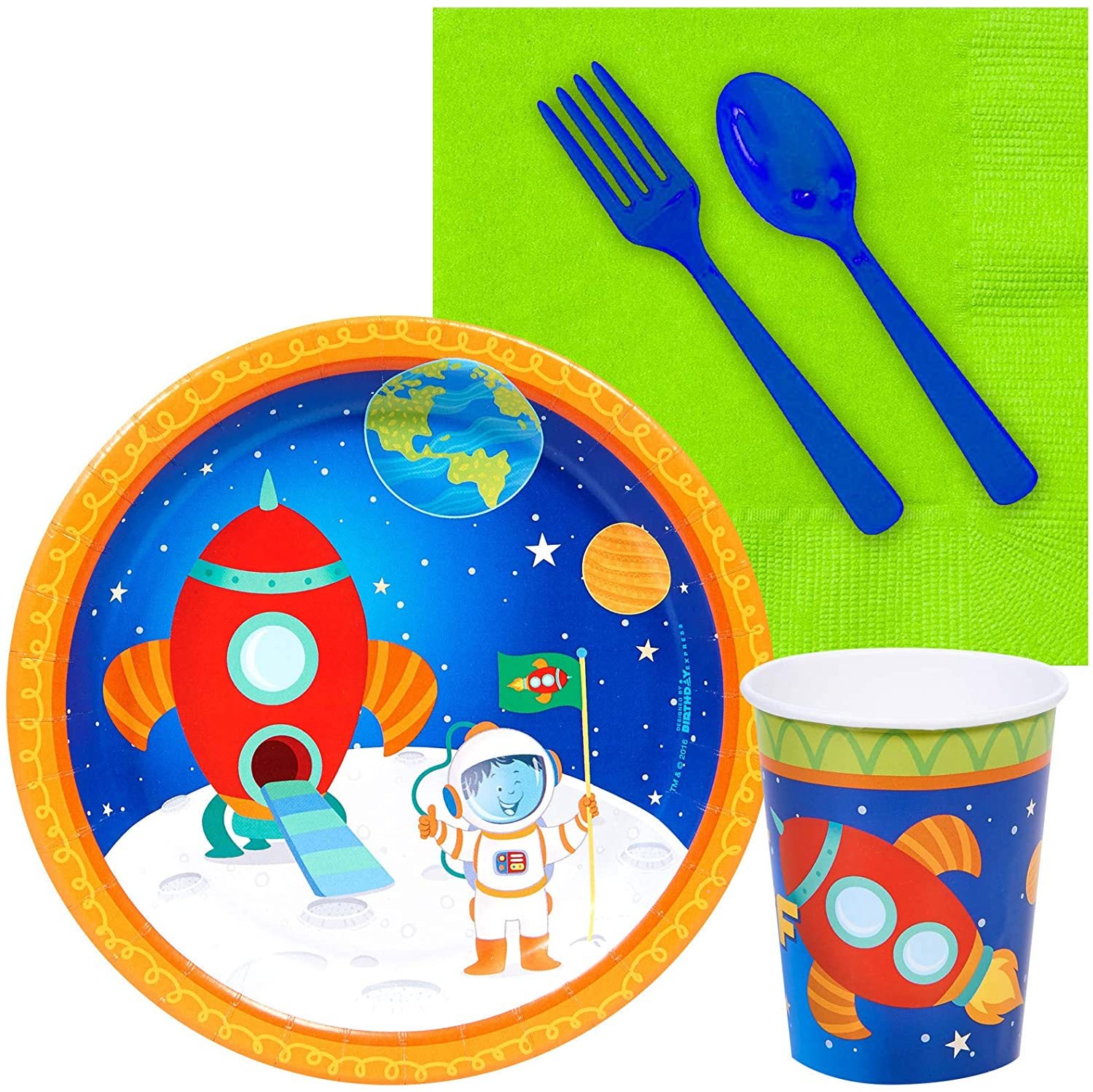 BirthdayExpress Solar System Rocket to Space Astronaut Party Supplies - Snack Party Pack