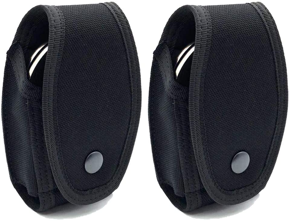 Junway (2 Pack) Universal Quick Release Handcuff Cases Handcuff Holders Pouches