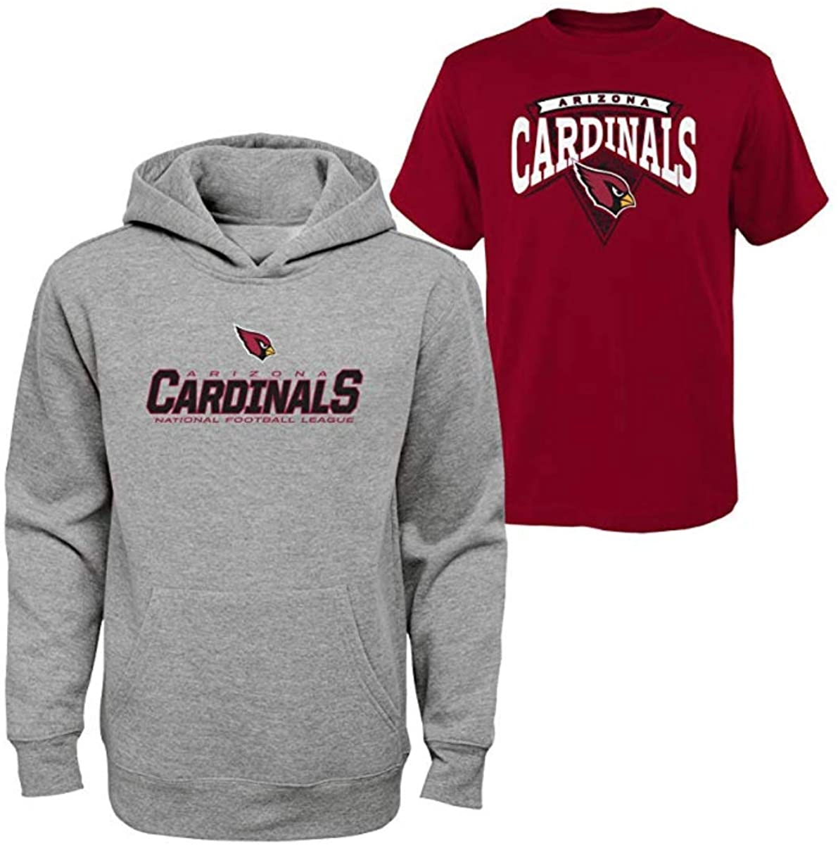 OuterStuff Youth Boys Tee & Hoodie Set (Arizona Cardinals, Large 14/16)